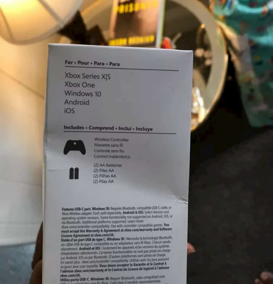 New Xbox controller package