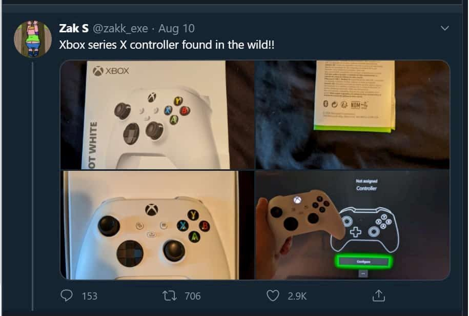 Leaked image of the Xbox controller