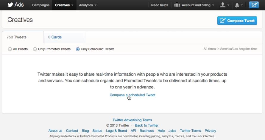 compose scheduled tweets