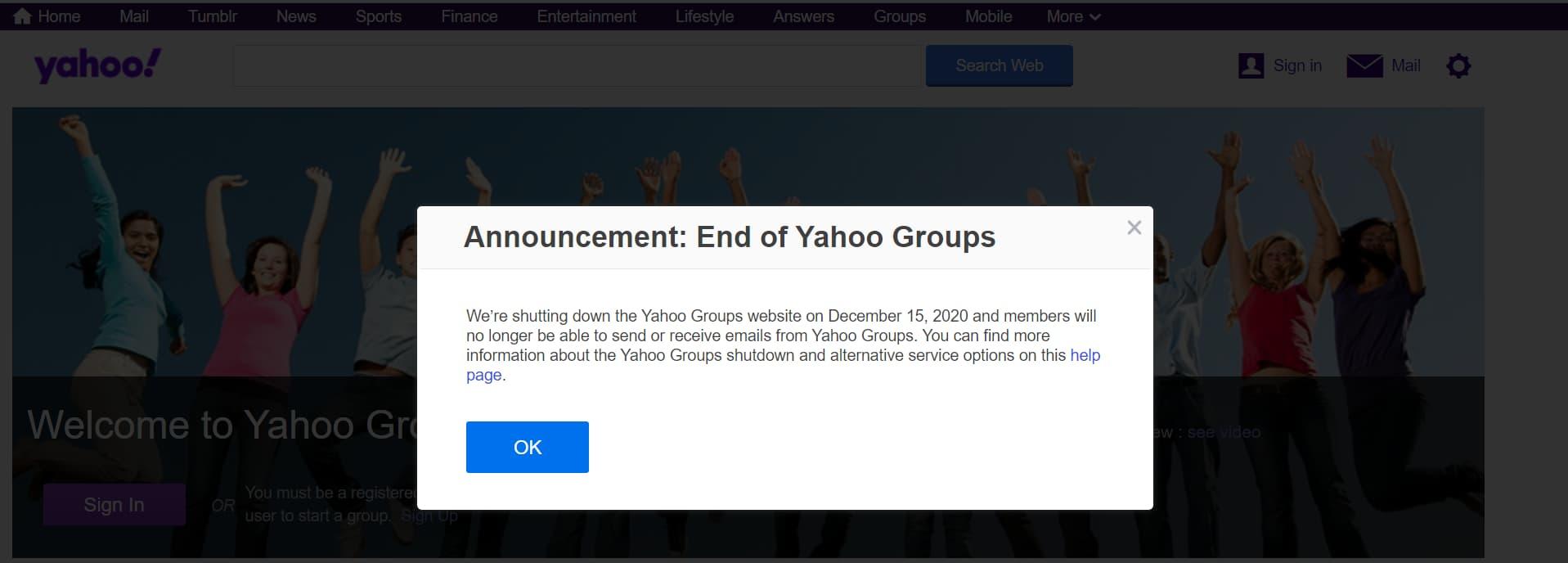 Yahoo Groups To Shutdown On December 15