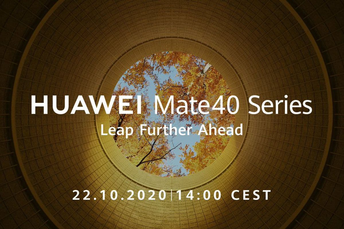 Huawei to Debut Mate 40 on October 22nd
