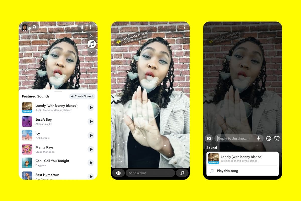 Snapchat now lets iOS users add music to their Snap