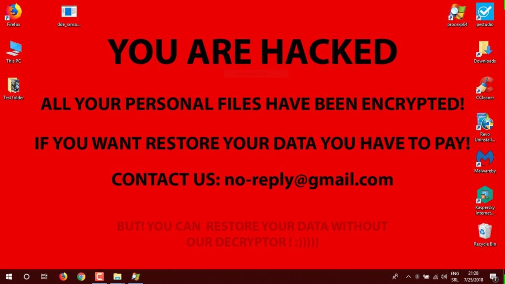 ransomware encryption message