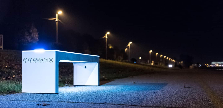 Older version of Steora smart benches