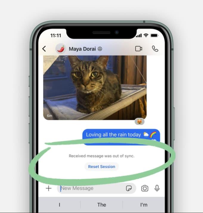 Signal error message fix for iOS