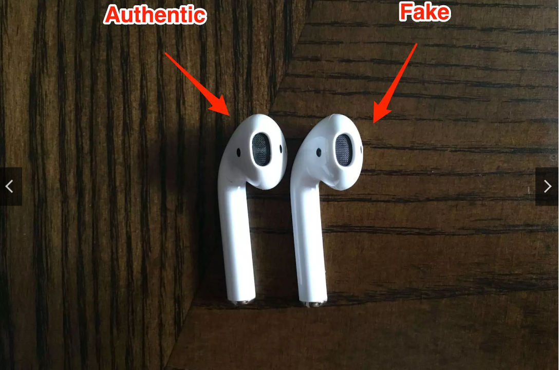 How to spot fake AirPods through the speaker grill