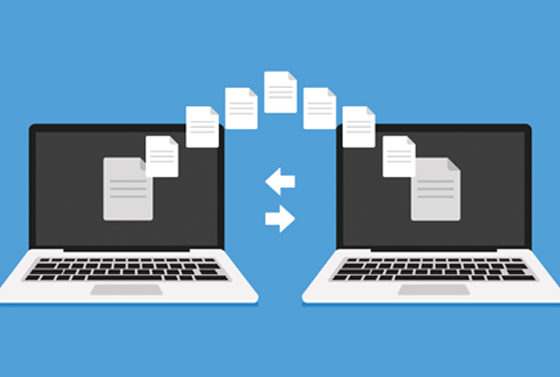 Transferring files from one laptop to another
