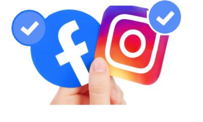 Accounts verification badge on Instagram, Twitter, Facebook, LinkdIn
