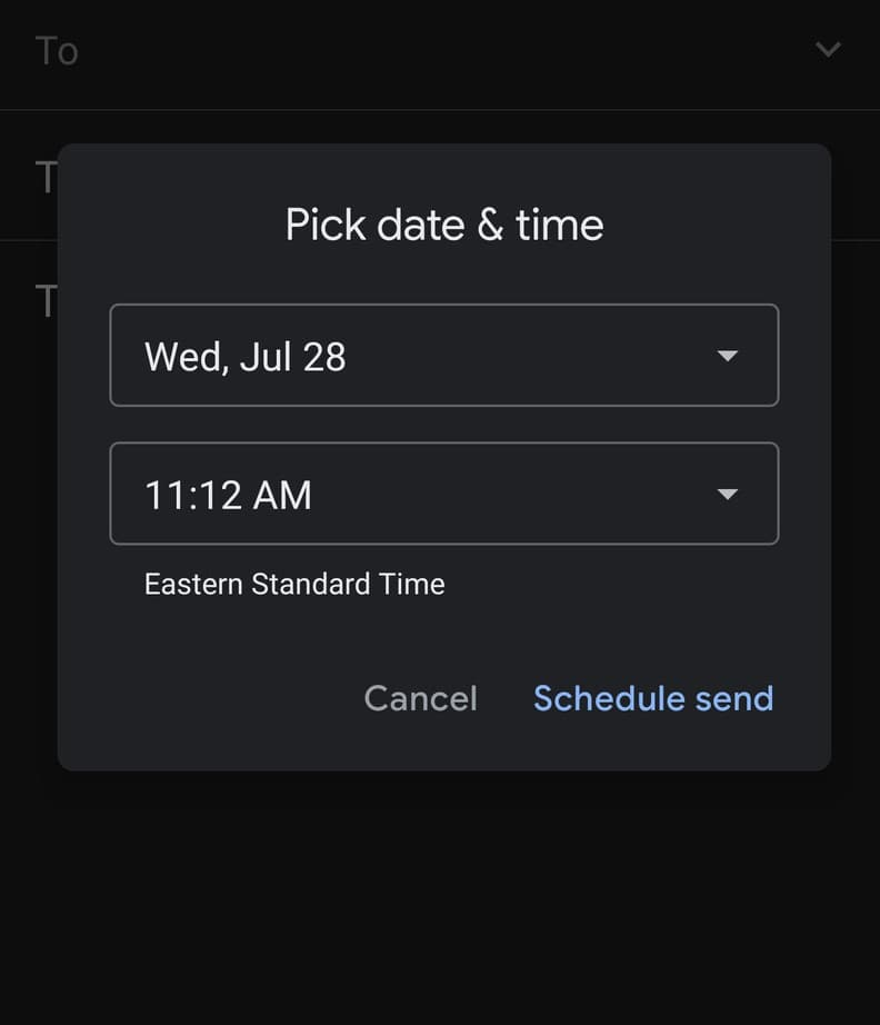How to schedule email in Gmail