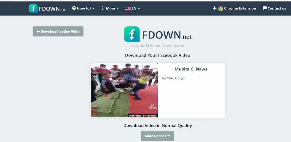 FDown.net , download videos from Facebook
