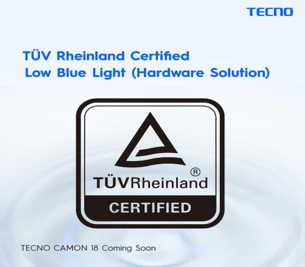 TECNO CAMON 18 Premier to launch in October as it bags two international certificates from TÜV Rheinland.